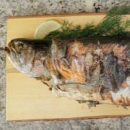 Local Whole BBQed Trout
